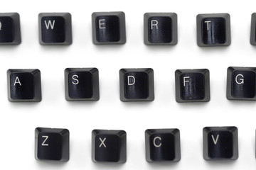 Keyboard keys - selective focus