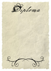 Diploma - Decorative framework.