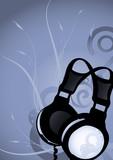 Abstract earphones 2 poster