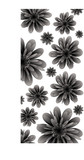 Floral inspired border in black and white with copy space poster