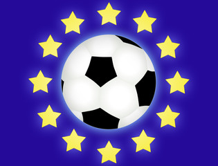 euro football flag