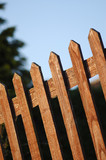 wooden garden boundary fence