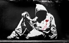 Banksy bluza z nożem Graffiti