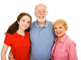Teen with Grandparents poster