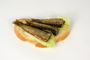 open sandwich with a kipper