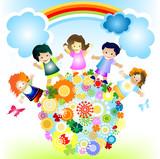Fototapety happy kids