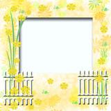 garden scrapbook frame poster
