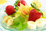Fresh fruits as dessert with low calorie poster
