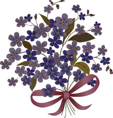 blue flower bouquet illustration