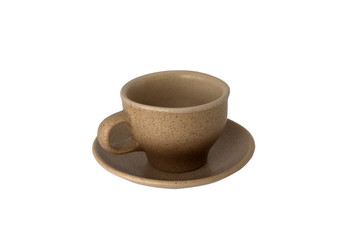 Ceramic coffee cup isolated over white