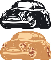 Vector cartoon car