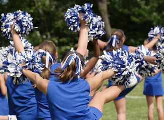 Cheerleaders Cheering at Game 2