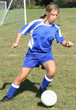 Youth Teen Soccer Player in Action 12 poster