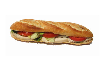 sandwich au poulet - chicken sandwich
