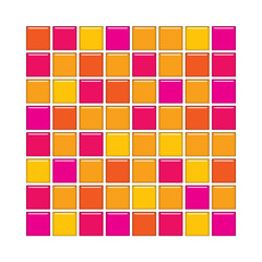 Orange and pink glass tiles