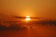 Leinwanddruck Bild Sunset