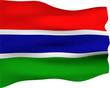 Постер, плакат: 3D Flag of Gambia
