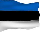 3D Flag of Estonia poster