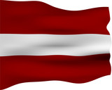 3D Flag of Latvia poster