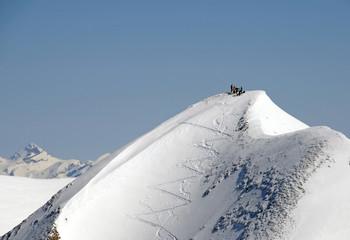 Snow covered peak