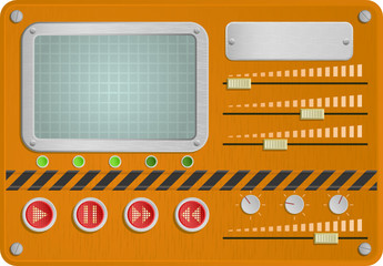 Vector illustration of an orange industrial skin for player
