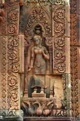 Cambodia Angkor Banteay Srey apsara