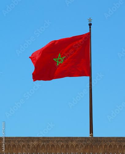 Leinwanddruck Bild drapeau du Maroc