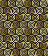 roleta: Seamless triple (maiden, mother and crone) celtic spiral pattern