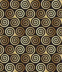Seamless triple (maiden, mother and crone) celtic spiral pattern
