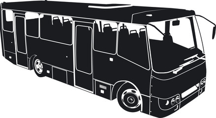 Vector city bus silhouette