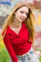 Friendly teenage girl