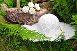 Sommer Picnic Korb und Hut poster