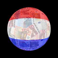 Dutch flag on euros