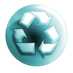 recycle bluish icon