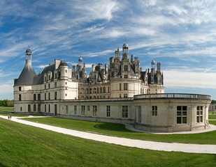 Chambord Castle on the Loire River. France.