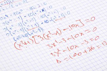hand written maths