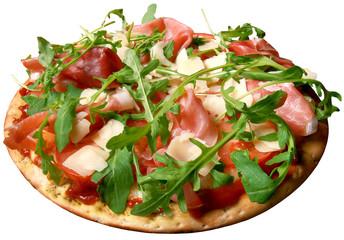 Pizza,parmesan,rukola,bacon