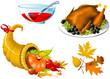 Thanksgiving Symbols icon set - four elements