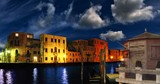 fantastic lanscape of venice by night poster