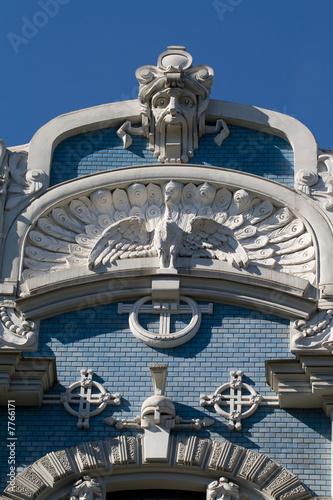 Detail of Art Nouveau building poster