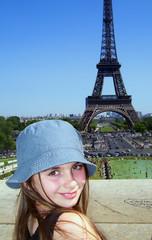 girl smiling in paris