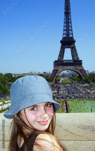 girl smiling in paris