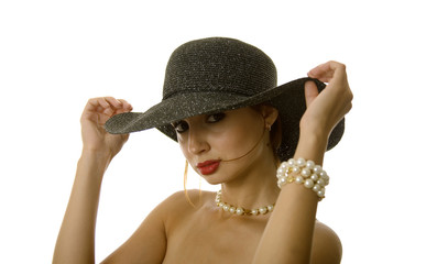 Sexy woman in hat