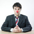 Businessman with red nose