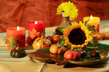 Still life or table decoration for Thanksgiving