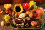 Still life or table decoration for Thanksgiving poster