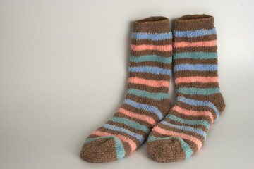 Striped pair of socks