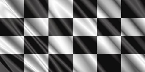 checkered satin flag