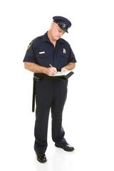 Police Officer - Citation Full Body