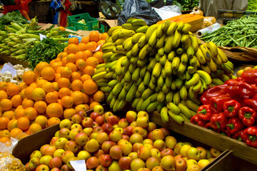 Fresh fruits on the market